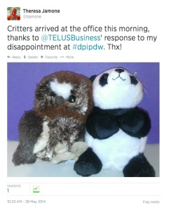 grab tweet telus critters may 28