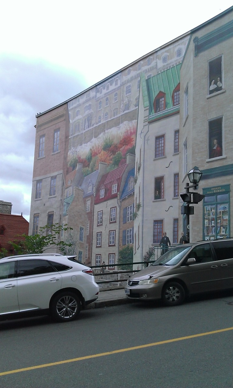Tearful nostalgia and travel whimsy in qu bec deep for Mural quebec city