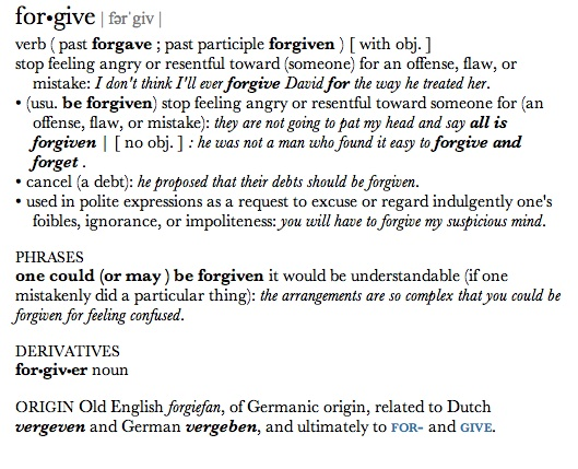 Forgiveness  (1/3)