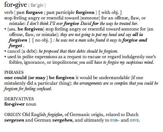 definition forgive