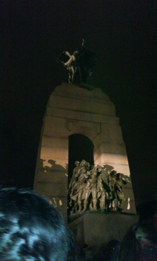 War Memorial Ottawa Oct 25 vigil