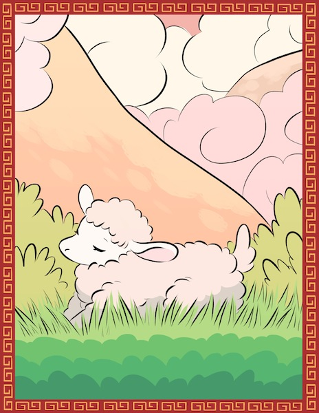 Illustration Year of the Sheep by Gisele