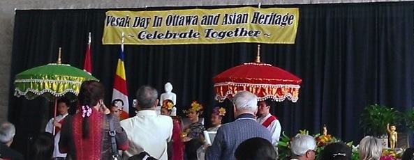 Vesak 2015 celebrations Ottawa City Hall