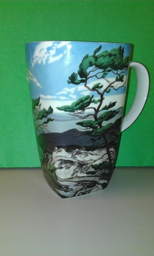 Coffee mug with Georgian Bay artwork