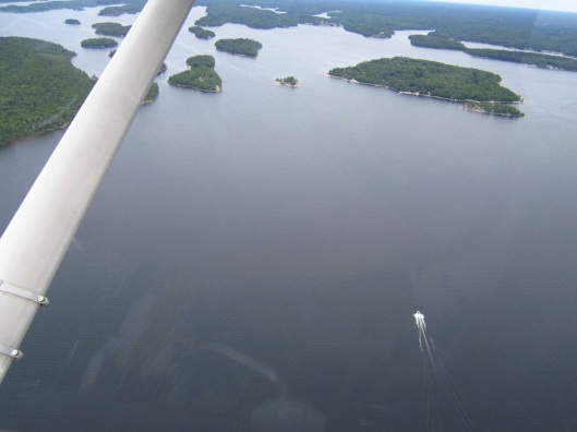 Aerial view of Georgian Bay, Parry Sound area