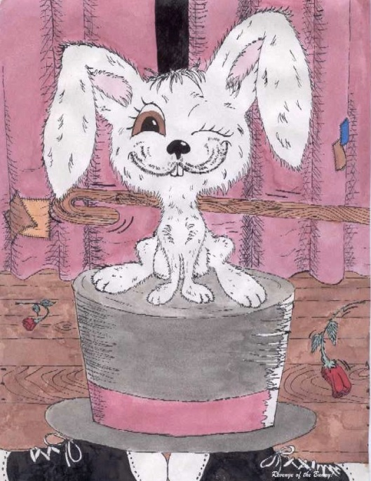 Cartoon drawing of magician's rabbit