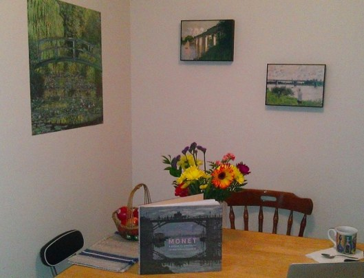 Monet art work and book