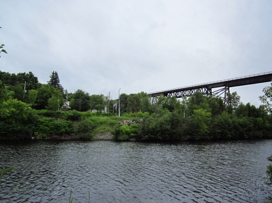 CP rail bridge over the Seguin River, Parry Sound