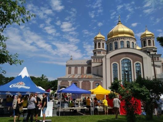 Capital Ukrainian Festival- tents and church