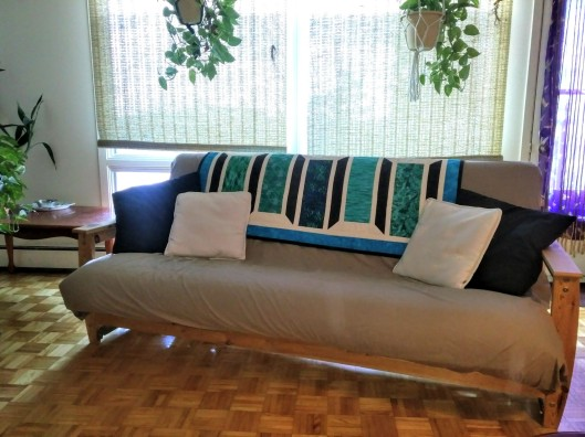 Quilt on futon