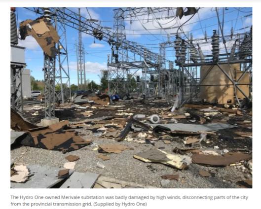 Ottawa Hydro station damaged Sep 21