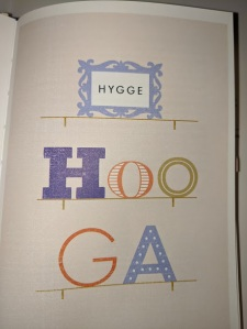 book page pronounce hygge as hooGa
