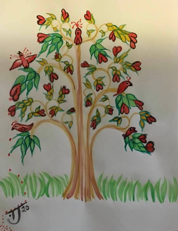 watercolour painting tree of life